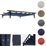 Ersatzdach für Pergola 3, 5x3, 5m HWC-C42, Schiebedach Bezug Sonnenschutz blau