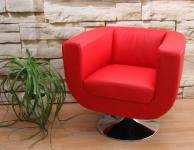 Lounge-Sessel Bar-Sessel Club-Sessel Treviso rot