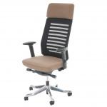 Bürostuhl MERRYFAIR Velo, Schreibtischstuhl mit Kopfstütze, Sliding-Funktion ergonomisch taupe