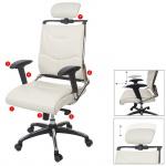 Bürostuhl HWC-A53, Schreibtischstuhl Drehstuhl, Kunstleder ISO9001 weiß