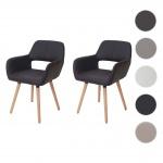 2x Esszimmerstuhl HWC-D87, Stuhl Lehnstuhl, Retro 50er Jahre Design