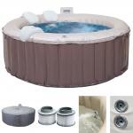 Whirlpool MSpa HWC-A62, 4 Personen In-/Outdoor Massage heizbar Ø 180cm FI-Schalter + Zubehör