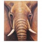 Ölgemälde Nahaufnahme Elefant, 100% handgemalt XL, 120x100cm