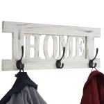 Wandgarderobe Home, Garderobe, Shabby-Look Vintage 20x55cm weiß