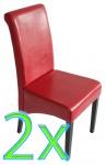 2x Esszimmerstuhl Lehnstuhl Stuhl M03 rot