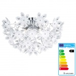 Reality Trio LED-Deckenleuchte, 12W-LED, EEK A++, chrom, Acrylblüten