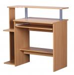 Schreibtisch A136, Computertisch Bürotisch, 90x94x48cm buche