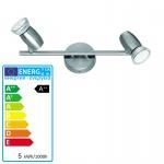TRIO LED-Deckenleuchte, EEK A++, Nickel matt L = 30cm