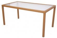 Esszimmertisch Gartentisch ROM, Poly-Rattan 150x80cm, sand