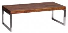 Couchtisch Malatya, Wohnzimmertisch, Sheesham Massivholz, 120x60x40cm