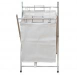 Wäschesammler H33, Wäschekorb, verchromt, 65x41x45cm