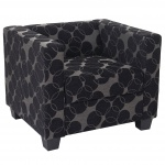 Sessel Loungesessel Lille, Textil grau/schwarz