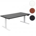 Schreibtisch HWC-D40, Bürotisch Computertisch, elektrisch höhenverstellbar Memory 160x80cm 53kg schwarz, weiß