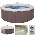 Whirlpool MSpa HWC-A62, 4 Personen In-/Outdoor Massage heizbar aufblasbar Ø 180cm FI-Schalter