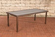 Poly-Rattan Gartentisch CP321, Tisch Esszimmertisch braun-meliert