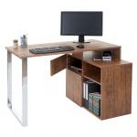 Eckschreibtisch HWC-A72, Bürotisch Schreibtisch Computertisch, 120x80cm 3D-Struktur Wildeiche-Optik