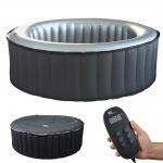 Whirlpool MSpa HWC-A62b, 6 Personen In-/Outdoor heizbar aufblasbar Ø 204cm FI-Schalter