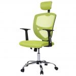 Bürostuhl Barrie, Drehstuhl Schreibtischstuhl Chefsessel, Netzbezug Textil grün
