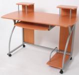 Jugend-Schreibtisch Computertisch Bürotisch Ohio, ca 90x115x55cm Buche