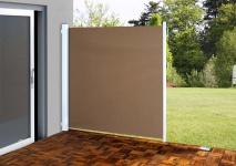 Seitenmarkise T140, Sichtschutz, Alu 1, 8x3m, hellbraun