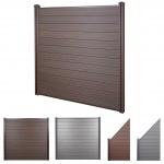 WPC-Sichtschutz Sarthe, Windschutz Zaun, WPC-Pfosten Basiselement, 1, 95m braun
