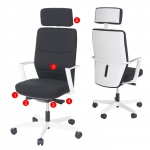 Bürostuhl MERRYFAIR Luton, Schreibtischstuhl, Sliding-Funktion Textil ISO9001 130kg belastbar