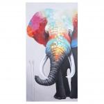 Ölgemälde Elefant II, 100% handgemaltes Wandbild Gemälde XL, 140x70cm