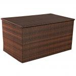 Auflagenbox, Kissenbox, Gartentruhe L braun