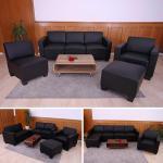 Modular Sofa-System Garnitur Lyon 3-1-1-1 schwarz