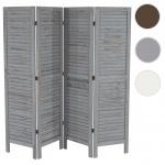 Paravent 170x182x2cm, Shabby-Look, Vintage grau