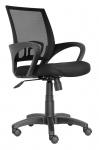 Bürostuhl Chefsessel Drehstuhl A02 Stoff/Netzbezug schwarz