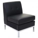 Sessel HWC-C19, Modular-Sofa Mittelteil ohne Armlehnen, erweiterbar Kunstleder schwarz