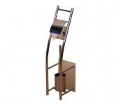WC-Ständer H25, Bürstenhalter Toilettenpapierhalter, Stahl, 70x19x17cm