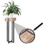 Blumentisch HWC-A15, Beistelltisch Tisch Blumensäule, Tanne Holz rustikal massiv 100x32x32cm