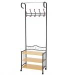 Metall-Garderobe Oshawa, Standgarderobe, 186x65x34cm