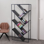 Bücherregal Cher, Standregal Wohnregal, 160x80cm 4 Ebenen