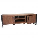 TV-Rack HWC-A27, Fernsehtisch Lowboard, 45x140x40cm 3D-Struktur, Wildeiche-Optik
