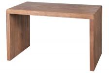 Schreibtisch Konya, Arbeitstisch Tisch, Akazie Massivholz, 76x120x60cm
