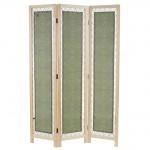 Paravent Samsun, Raumteiler Trennwand, Textil Ornamente