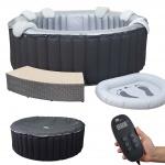 Whirlpool MSpa HWC-A62b, 6 Personen In-/Outdoor heizbar aufblasbar Ø 204cm FI-Schalter + Zubehör