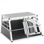 Hundebox Transportbox Alubox Hundetransportbox 50x89x69cm