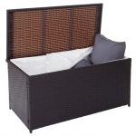 Poly-Rattan Kissenbox Barry, Truhe Auflagenbox Gartenbox, 290l braun