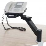 Telefonarm T555, Telefonhalter Tischhalterung, schwarz