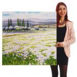 Ölgemälde Blumenlandschaft, 100% handgemalt, 80x80cm