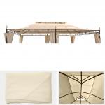 Ersatzbezug für Dach Pergola Pavillon Mecina 4x3m, creme