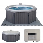 Whirlpool MSpa HWC-A62, 4 Personen In-/Outdoor Verkleidung heizbar 162x162cm FI-Schalter