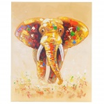Ölgemälde Elefant, 100% handgemalt, 100x80cm