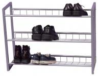 Schuhregal H81, Schuhablage Schuhständer, 3 Ablagefächer, 60x80x25cm