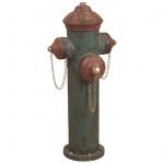 Deko-Hydrant H132, Standdeko, Metall, Antik-Optik