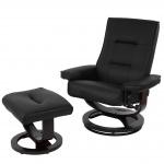 Relaxsessel Premium, Relaxliege Fernsehsessel TV-Sessel, Premium-Polsterung Kunstleder schwarz